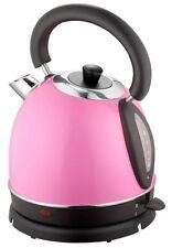Wasserkocher Wasserkessel Kessel Kocher Teekocher Edelstahl 1,8L 2200W 360° Pink
