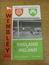 10/11/1965 England v Northern Ireland [At Wembley] (folded, score on front, team