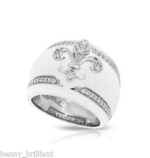 Belle Etoile Fleur De Lis White Ring NWT Size 7