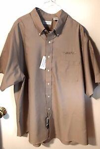 Van Heusen Dress Casual Shirt Men's Wrinkle Free Short Sleeve XXL 18-1/2-19 NEW