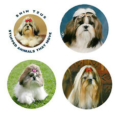 Shih Tzu Magnets: 4 Cool Shih Tzus for your Fridge or Collection-A Great Gift