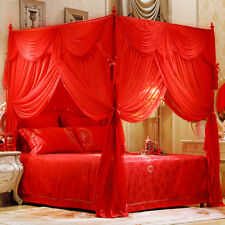Chinese Luxury brand mosquito net & stainless steel frames Wedding bed curtain