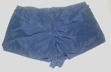 Athletech Swim Wear Shorts Trunks Board Shorts Solid Navy Blue Plus Size 22W