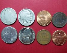 >1906 INDIAN HEAD CENT>> Mixed LOT of 8 Different U.S. NICKELs and CENTs Issue