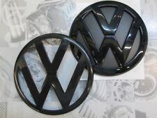 VW Zeichen Schwarz Glänzend Vorne Hinten Golf 2 3 4 5 6 7 Lupo Bora GTI R32 *NEU