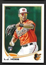 2013 Topps #148 L.J. Hoes RC Baltimore Orioles