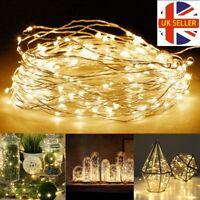 50 100 200 White LED GloBrite String Solar Powered Fairy Lights STOCK CLEARANCE