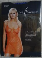 Plus Size Blue Lace Mini Dress Leg Avenue UK 14 16 18