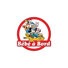 Decal Sticker child Baby à bord Mickey and its friends 16x16cm ref 3572
