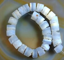 Natural Wheel Frosted Gemstone Beads 8""