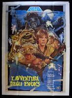 M147 Manifesto 4F L'Avventura Der Ewoks Star Wars George Lucas