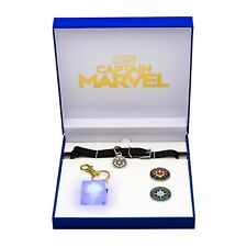 2019 SDCC ToyNk Captain Marvel Goose Replica Collar, Tesseract Light Up, Pin
