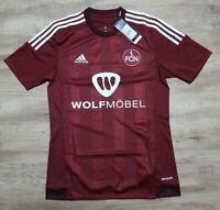 1 FC Nurnberg Jersey Shirt 100% Original 2015/2016 Home Men's S NEW