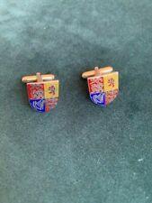 arms of the Uk Enamel cufflinks Royal coat of