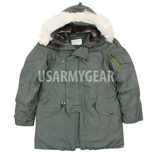 NEW US Army Military Extreme Cold Weather N-3B Snorkel Parka Jacket Coat L LARGE