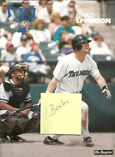 Large Chad Epperson Trenton Thunder Photo Card Poster Insert Red Sox Baseball