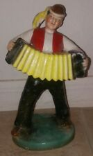 Ditmar Urbach Czech Porcelain Figurine Musician w/Accordion Circa 1930s Antique