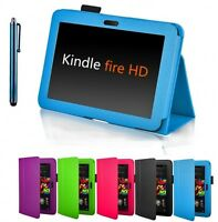 """High Quality Amazon Kindle Fire HD 7"""" 2012 Version Leather Smart Stand Cover"""