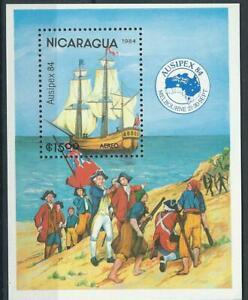 NICARAGUA  Scott# C1048 ** MNH barcos Ausipex 84 Melbourne