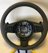 Genuine Jaguar XE Grey Leather Steering Wheel, Voice Control, Paddle Shift Etc