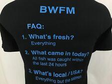 BWFM Big Water Fish Market Siesta Key FL Black Graphic T Shirt Cotton XL X-Large