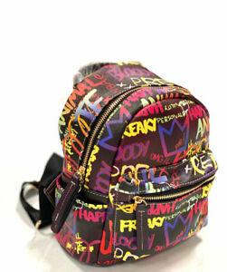 Small Graffiti Effect Daypack Anti-Theft Multipurpose Shoulder Bag Backpack
