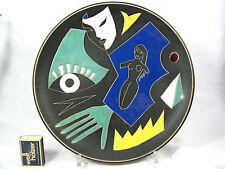 Rare 50 's design Ruscha keramik wall plate muro plato Picture 717/2 27 cm