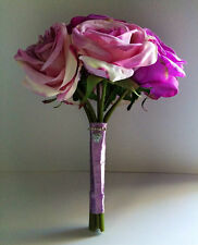 Classic Rose Wedding Bouquet in Purple & Lavender with a touch of Ivory