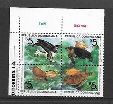 DOMINICAN REP. Sc 1242 NH BLOCK OF 4 OF 1996 - TURTLES