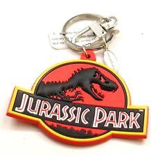 NEW Universal Studios Jurassic Park T-Rex Logo Rubber Key Chain