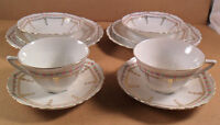 10 PC Set BAVARIA China Porcelain Cup Saucer Bowl Bread Lunch Plates Rose Floral