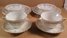 10 PC Set BAVARIA China Porcelain Cup Saucer Bowl Bread Lunch Plates Rose Floral