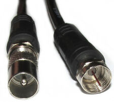 1.5m Metre TV Aerial Cable Coax Lead Male to F Satellite Connector Plug Coaxial