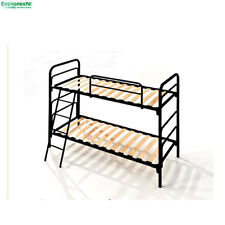 "Bunk Bed 2 Slatted Iron Bed Space-Saver Single 2ft6"" x 6ft3"" (80 x 190 cm)"