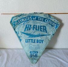 Vintage Hi-Flier Blue Paper Kite Playmates Of The Clouds Little Boy Rare