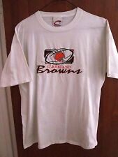CLEVELAND BROWNS vtg embroidery med tee NFL helmet logo T shirt Cadre Athletic