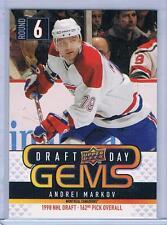2009-10 UPPER DECK 1 ANDREI MARKOV DRAFT DAY GEMS INSERT #GEM4 CANADIENS