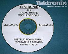 Tektronix Tek 485 Oscilloscopemanual Operating Amp Service With Schematics
