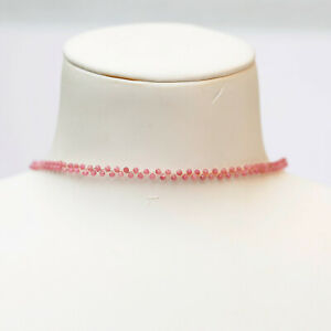 AD56 Luxury design 2.5mm tourmaline necklace/Choker36+6cm w/9-10mmPearl Pendant