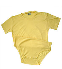Adult Incontinent Bodysuit Diaper Cover, YELLOW