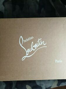 Authentic Brown Christian Louboutin Shoe Box for Gifting and Present