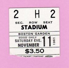 1961 Boston Celtics Ticket NOV. World Champs/Bill Russell MVP/Chamberlain 41 Pts