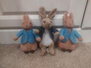 Bundle Of Small Peter Rabbit Plush Soft Toys