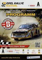 Eifel Rallye Festival Programmheft Juli 2016 Rennprogramm Programm Daun