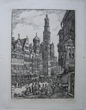 Willi Döhler (1905-1973) Augsburg um 1830 Orig Holzschnitt signiert 1960