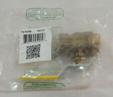 """Brass Gas Ball Valve by Red White Valve Corp 3/4"""" PN 5544AB 600 Wog New"""