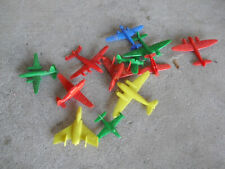 Lot of Vintage Small Soft Plastic Fighter Airplanes
