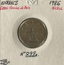 10 FRANCS ESSAI - 1986 - Pièce de monnaie en Nickel // TTB+