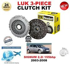 FOR VAUXHALL SIGNUM 2.2 i 155 BHP 2003-2008 LUK CLUTCH KIT ORIGINAL 3 PIECE