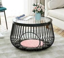 Round Cat Cage Coffee Table, Human Cat Shared Coffee Table